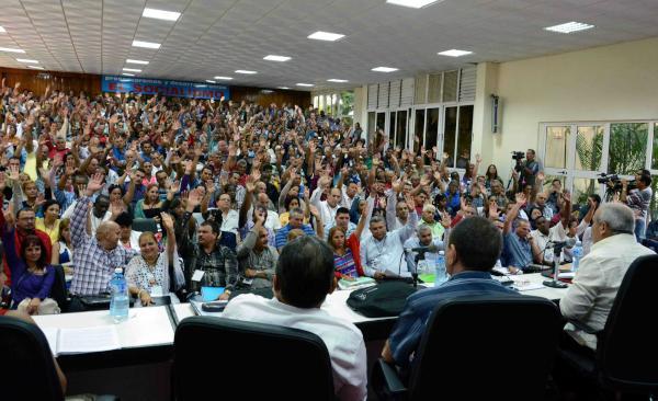 Sesión plenaria de la Asamblea Provincial del Partido Comunista de Cuba (PCC), en la Escuela del Partido Cándido González, en Camagüey, el 14 de noviembre de 2015. ACN FOTO/ Rodolfo BLANCO CUÉ/ rrcc