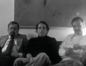 Guillermo y Sabá Cabrera Infante, junto a Orlando Jiménez Leal