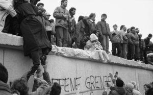 Caída del muro de Berlín el 1ro de noviembre de 1989