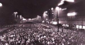 Manifestación en la Alemania oriental, 9 de octubre de 1989