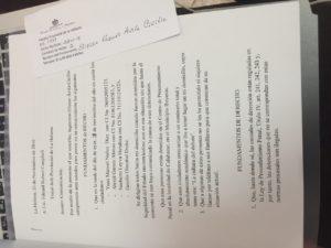 Denuncia entregada a La Fiscalía provincial de La Habana