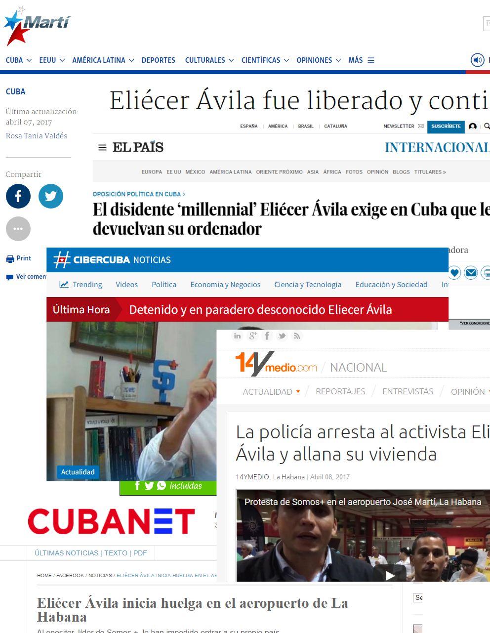 repercucion detenciones en Cuba